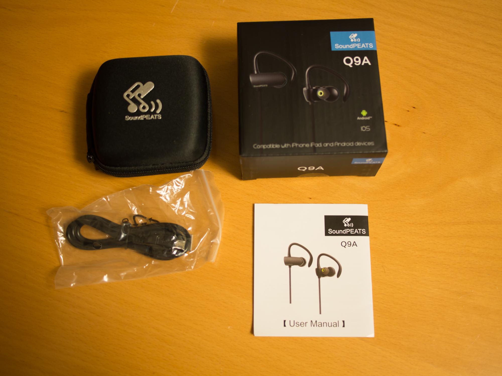 SountPEATS Bluetoothイヤホン Q9A 同梱物