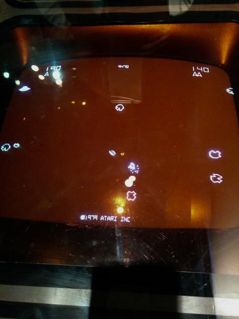 ゲーム『アステロイド』の筐体画像
